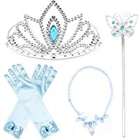 JerrisApparel Prinses Accessoires Sets Verjaardag Partij Kostuum Sets voor Meisjes (Gemiddeld, Blauw 1)