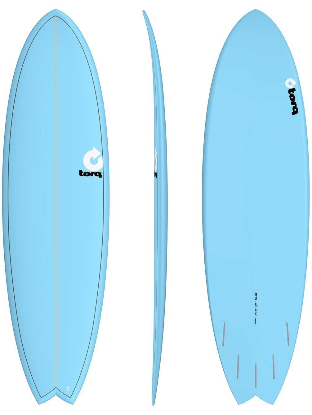 Torq Epoxy Tet Fish 6.6 Blue Surfboard