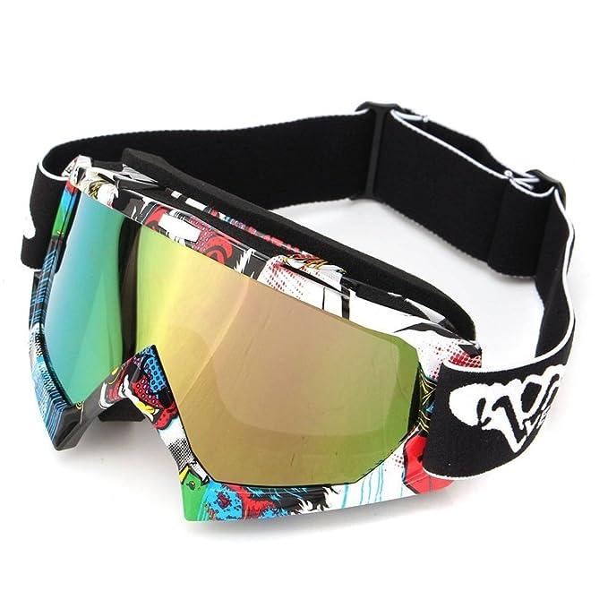 1 opinioni per Viso Occhiali da sole di protezione maschera Occhialoni moto per attività