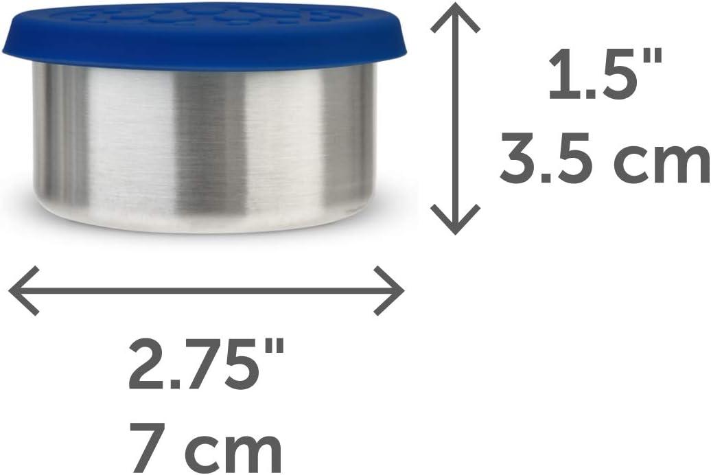 ecol/ógica LunchBots apta para lavavajillas Fiambrera con dos cajas Bento sin BPA una secci/ón y tres secciones de recipientes de acero inoxidable y tazas de silicona