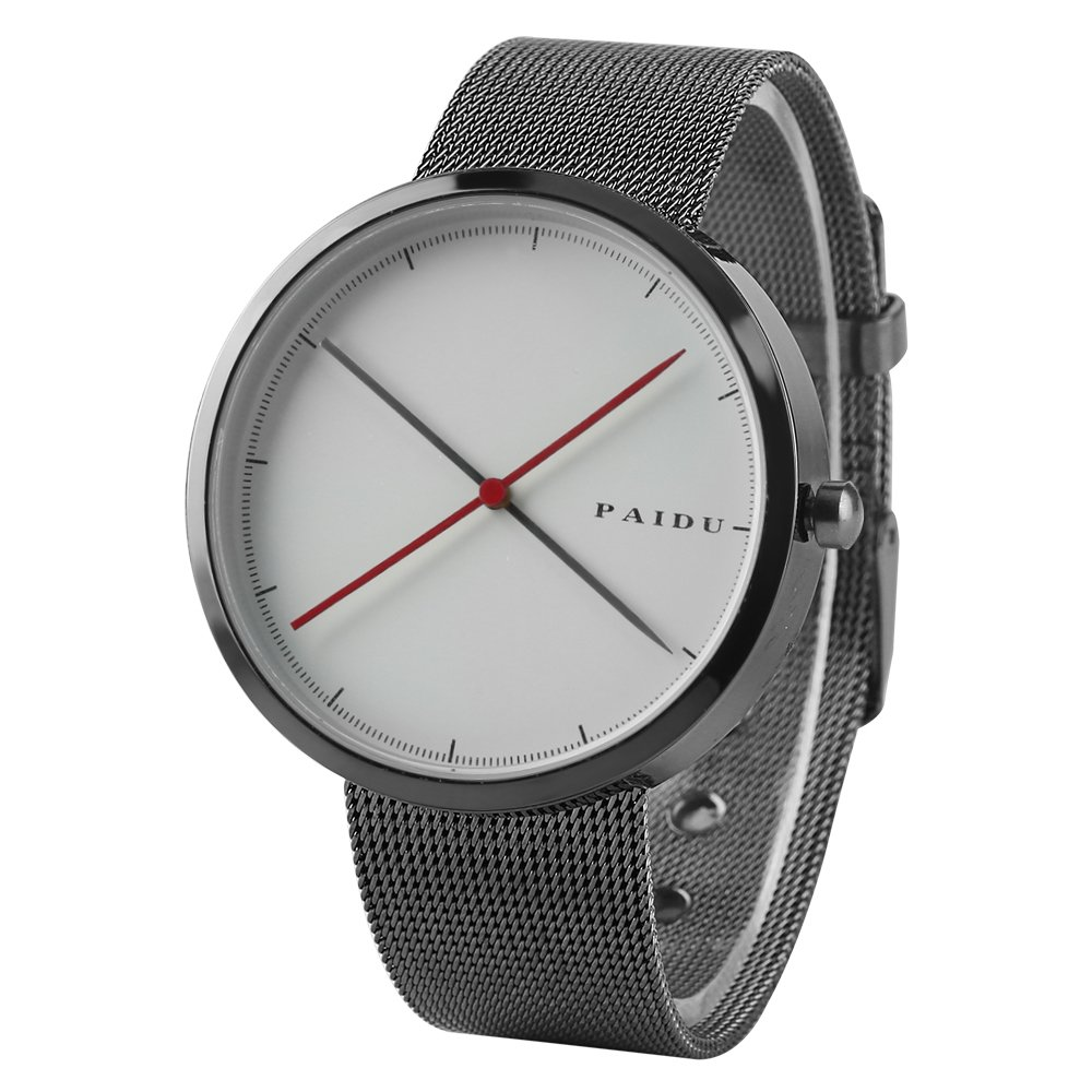 Kevin Mens Watches,Fashion Business Minimalism Quartz Watch with Comfortable Stainless Steel Band-Casual Luxury Watch for Men (White) by Kevin