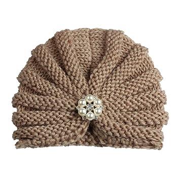 mnoMINI Sombrero de Turbante para bebé niña, diseño de Perlas ...