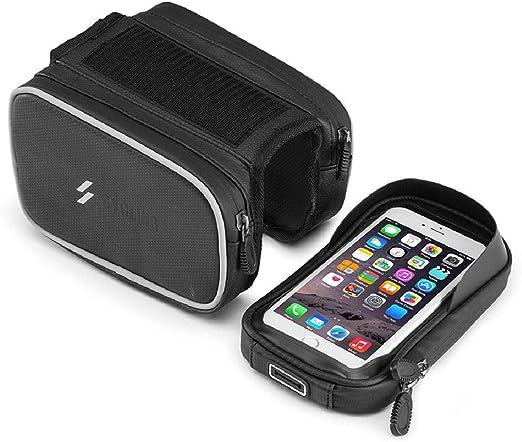 Vaycally Bolsa para Bicicleta BTR Bike para teléfono móvil. Soporte para teléfono móvil y Soporte para Bicicletas. Soporte para Bicicleta y Bolsa de Ciclismo para Montar teléfonos en Bicicleta Manill: Amazon.es: Hogar