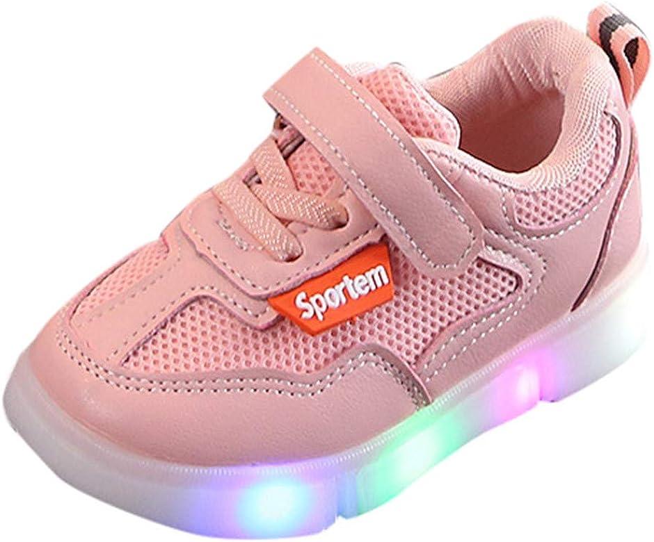 Conquro Viaje Antideslizantes Niños Zapatillas Niños Zapatos de Malla Zapatillas de Deporte con luz LED iluminadas 2019 Calzado Running Exterior Zapatos de Bautizo Recién Nacidos Dura Transpirables: Amazon.es: Zapatos y complementos
