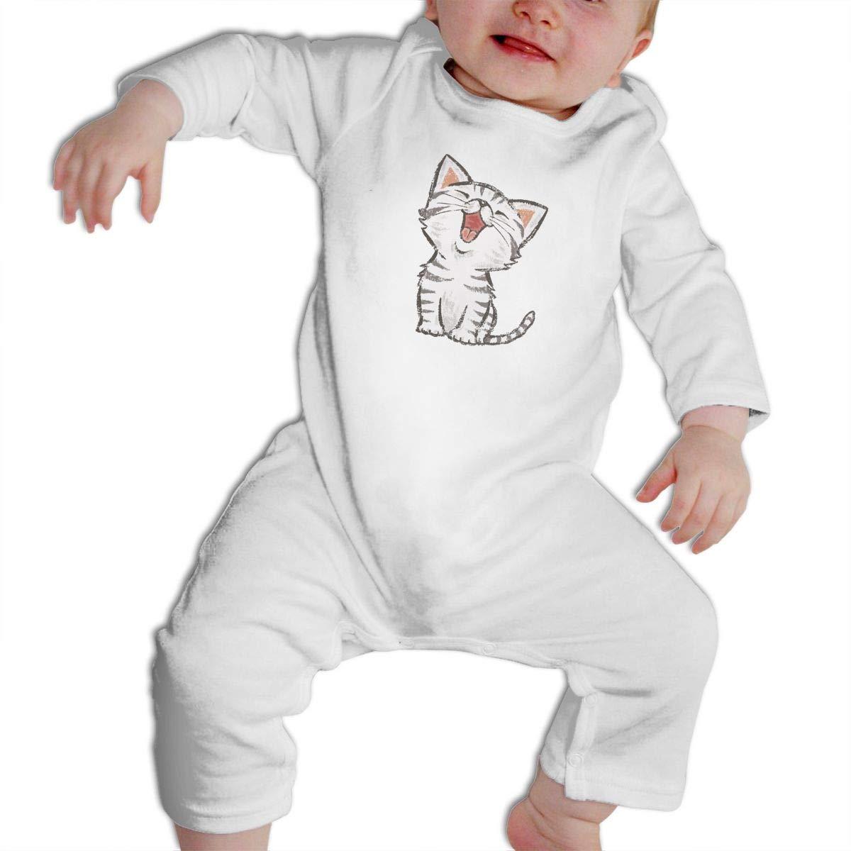Cami American-shorthair-happy-cat Baby Boys Girls Long Sleeve Onesies Infant Bodysuit Baby For 6-24months