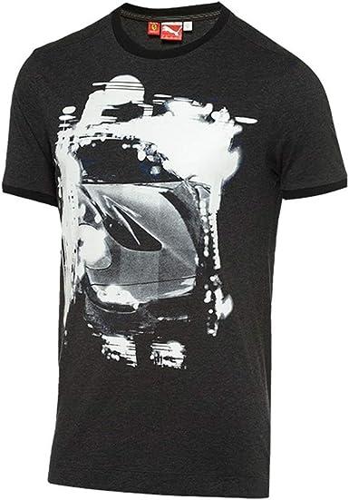 Puma para hombre Ferrari Graphic manga corta camisas - Gris -: Amazon.es: Ropa y accesorios