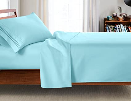 College Dorm Room 3Pc Bed Sheet Set, Twin Extra Long Size 39u0026quot;x