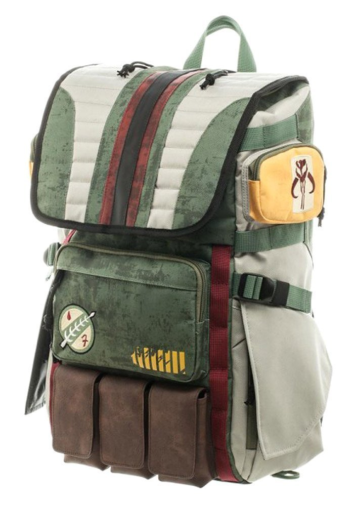 Star Wars Boba Fett Mandalorian Suit Up Laptop Backpack Bioworld BP3VJQSTW