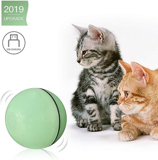 Decdeal Bola de Juguete Eléctrica para Gatos Ejercicio Chase Luz ...
