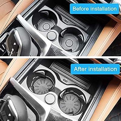 WINKA Car Cup Holder Coasters, Silicone Coasters for Cup Holders, Universal Vehicle Cup Holder Coasters 4 pcs: Automotive