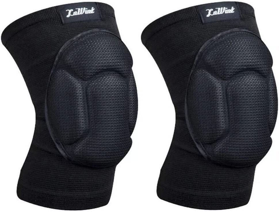 Gardening Flooring Volleyball Knee Pads - Luwint Adult High Elastic Knee Support Sleeves - Black, 1 Pair by Luwint