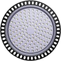 UFO Led High Bay Light 100w Waterproof Ultra Thin Led Warehouse Lighting Commercial Bay Lighting for Garage Gym Shop…