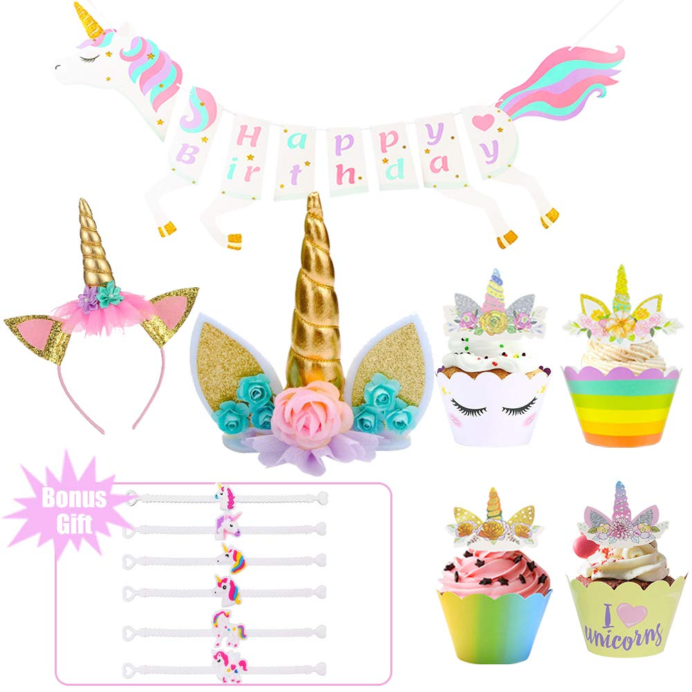 Unicorn Party Supplies Pack