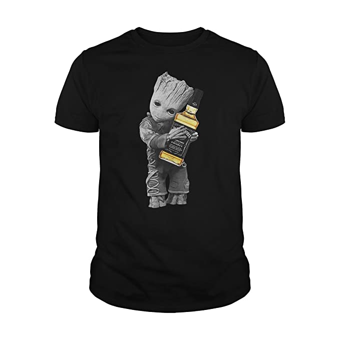 c2a4acfe2 Image Unavailable. Image not available for. Color: Men's Baby Groot Hug  Jack Daniel's ...