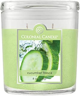 product image for Colonial Candle Cucumber Fresca Jar Candle, 8 oz, Green,CC008.2177