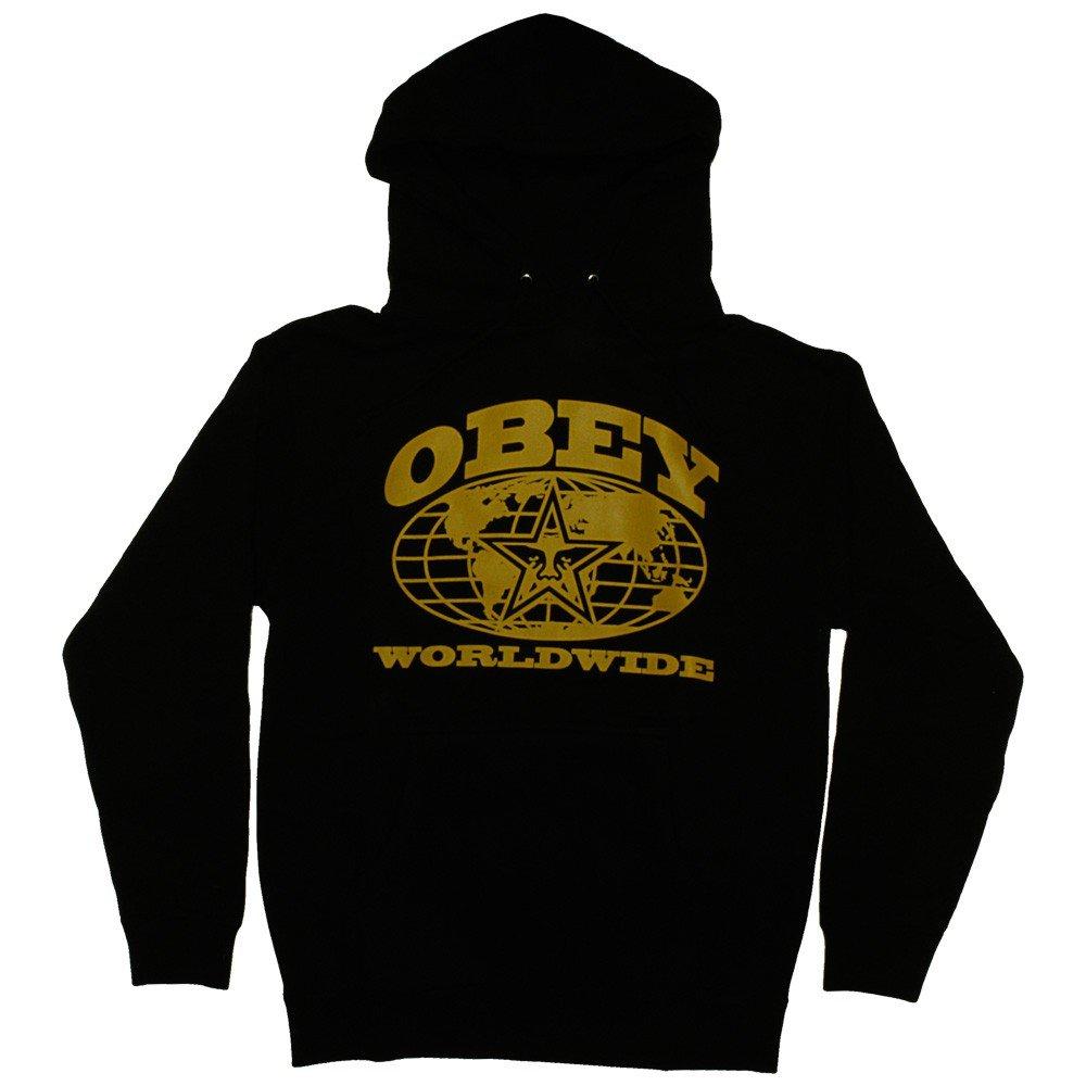 Obey - Hombre Sudadera con Capucha Worldwide - Black Small: Amazon.es: Ropa y accesorios