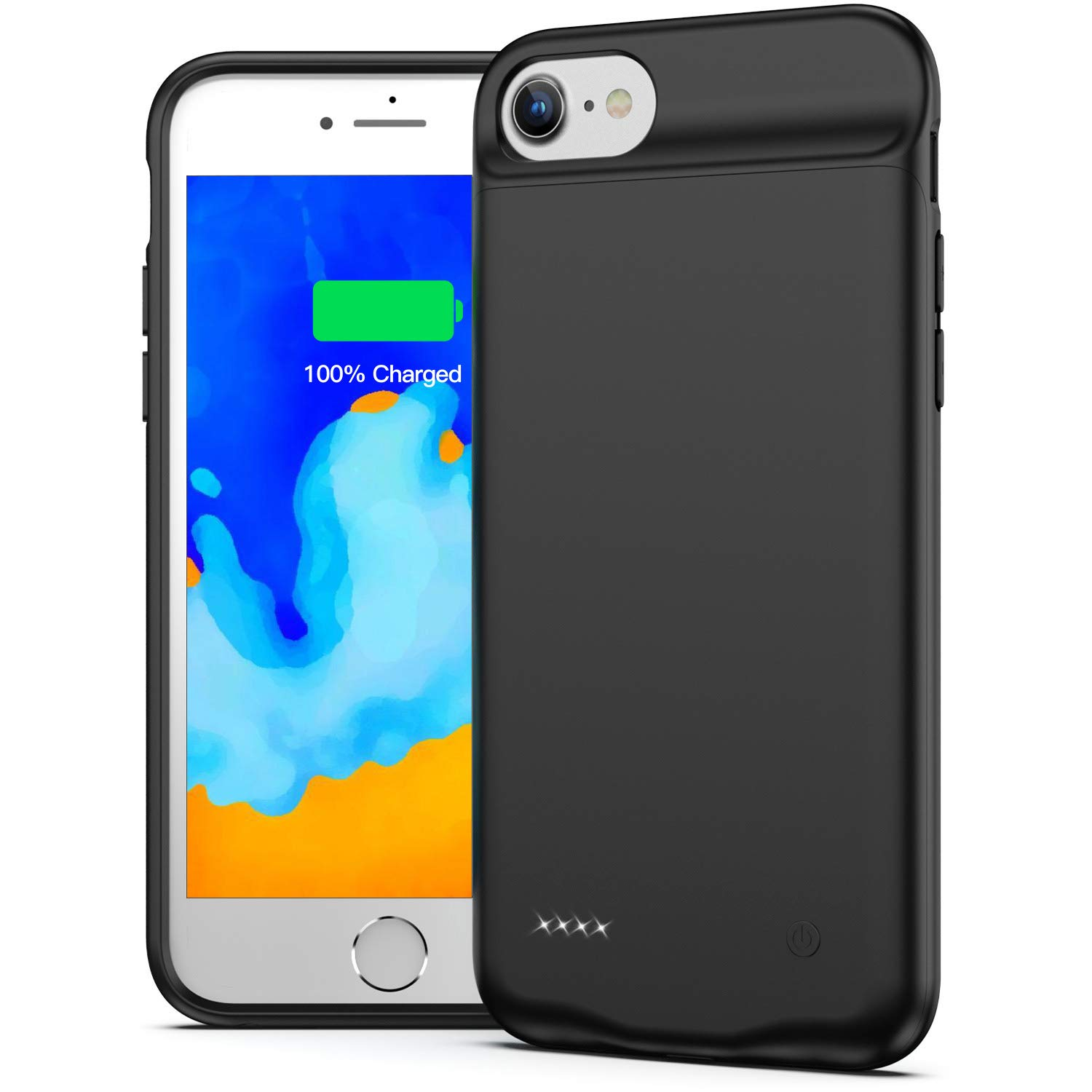 Battery Case for iPhone 7/8, 3000mAh Portable Charging Case Protective Rechargeable Charger Case Extended Battery Compatible with iPhone 7 8 (4.7 inch) - Black