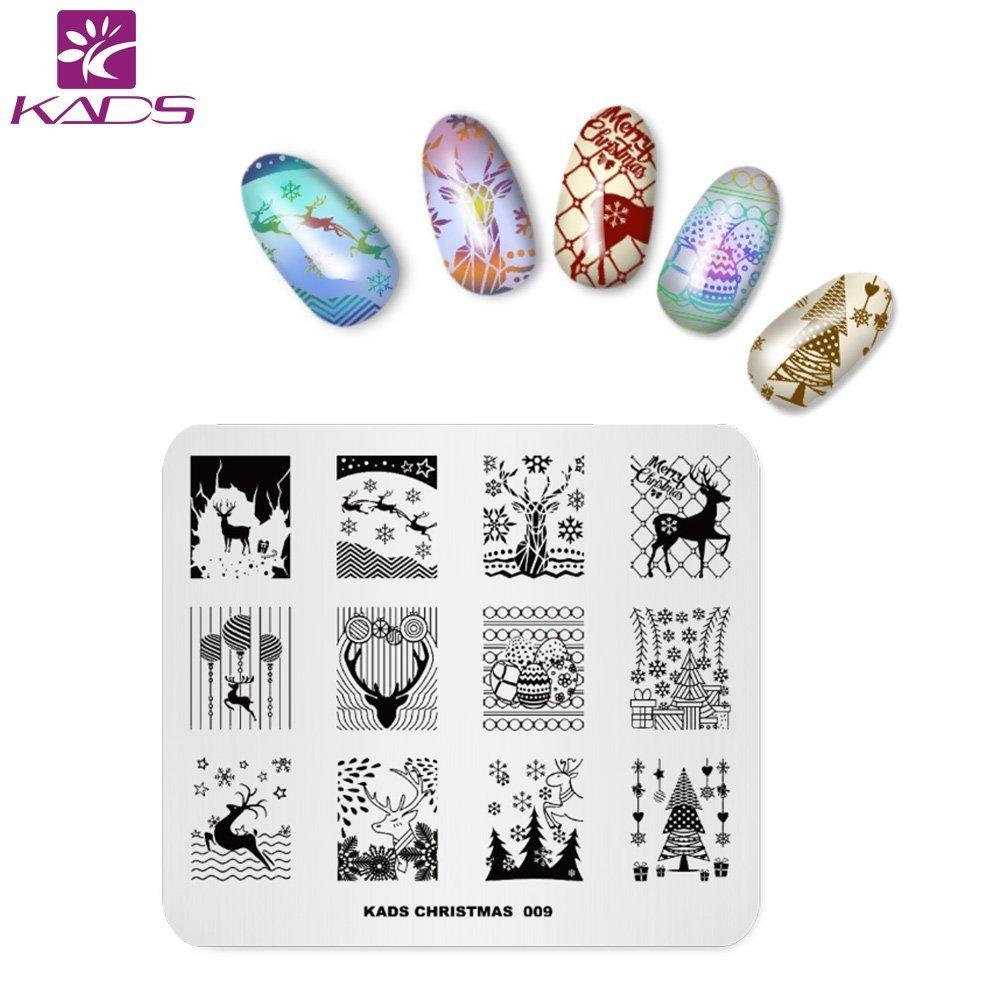 KADS 4 pcs La manicura del clavo de la plantilla pegatinas Stamping Nail Vinilos Nail KADS Co. Ltd