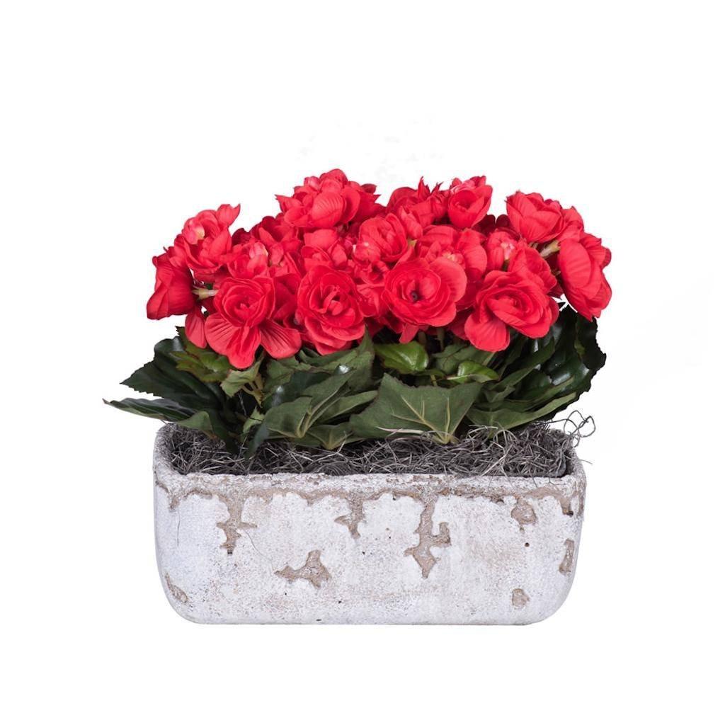 Vickerman F12223 Red Begonia Everyday Floral