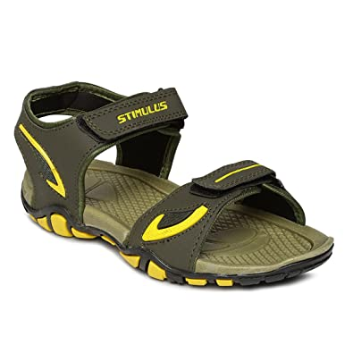 7f5c2ddbf1a PARAGON Stimulus Men s Green Sandals  Buy Online at Low Prices in ...