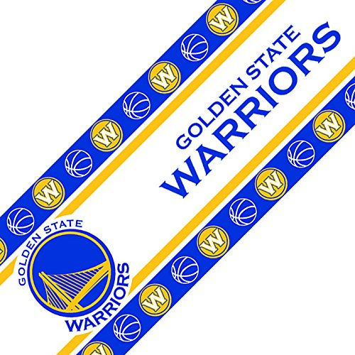 NBA Golden State Warriors Wall Border, 05 x 15, Multicolor by Sports Coverage