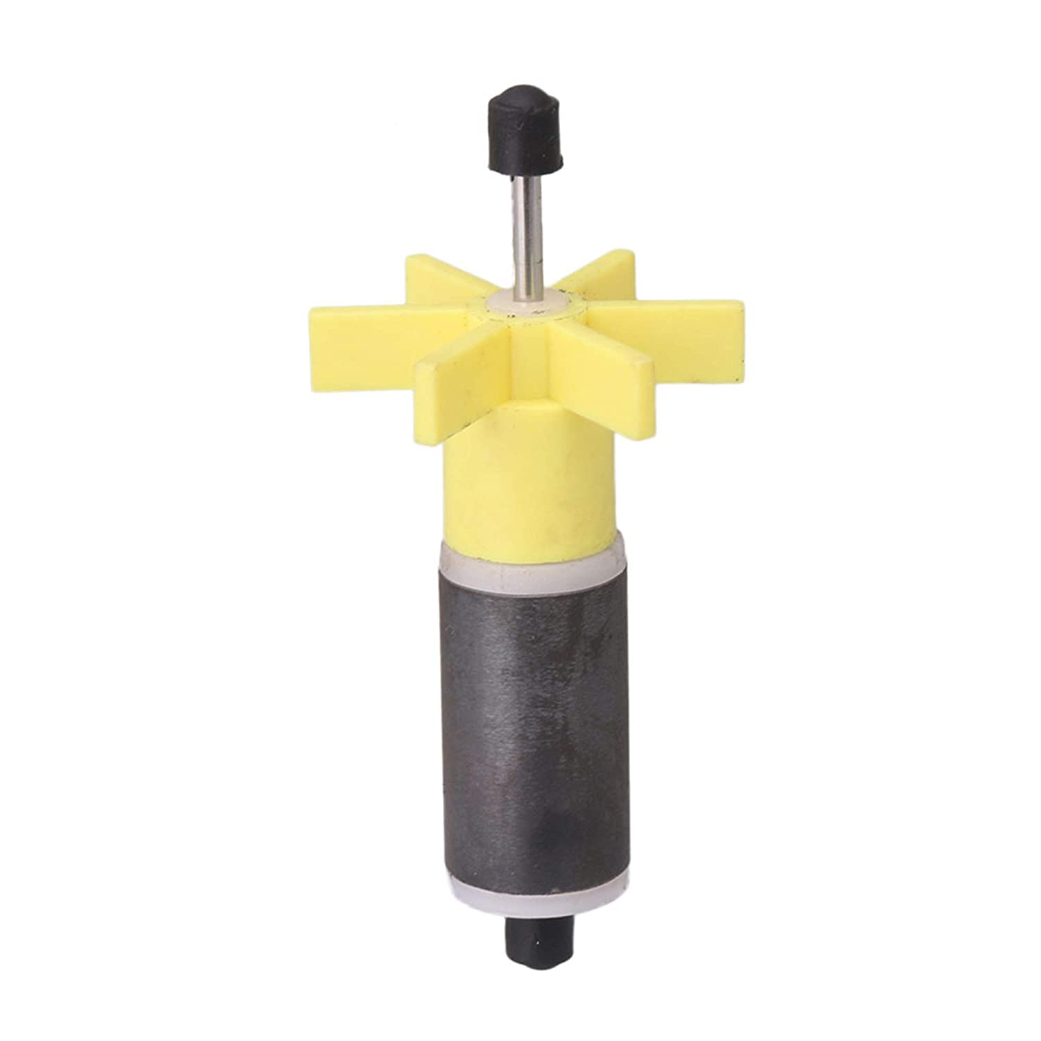 Submersible Pump Rotor Impeller with Shaft and Bearing Replacement Magnetic Filter 3'' Shaft length, 0.63'' Dia Yellow