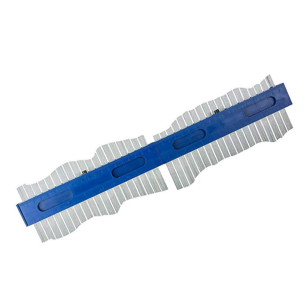 2 Pieces Profile Gauge 7.87inch//200mm Plastic Contour Copy Duplicator Circular Frame Tool Instant Template Blue