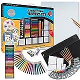 115pcs Daler Rowney Simply Creative Mini Art Set for Children or Adults - Artists Acrylic Paints, Pens, Pastels & More
