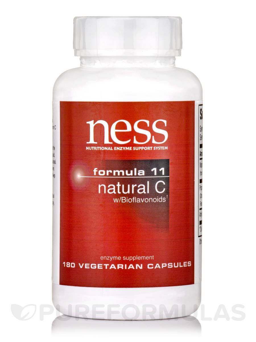 NESS Enzymes Natural C w/Bioflavonoids #11 180 caps