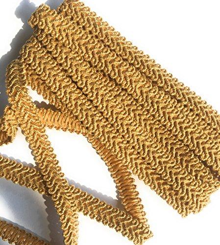 1/2'' Gold Metallic Gimp Trims, Gold Braid Trimmings 5 Yards