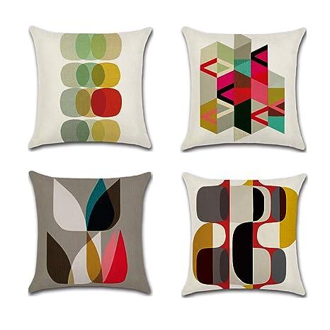 Amazon.com: CADITEX - Funda de almohada de lino suave (17.7 ...