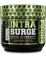 INTRASURGE Intra Workout Energy BCAA Powder - Fermented BCAA Amino Acids, Natural Caffeine, L-Citrulline, and More for Muscle Building, Strength, Pumps, Endurance, Recovery - Fruit Punch, 20sv