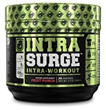 INTRASURGE BCAA Intra Workout Energy Powder - Fermented BCAAS, Natural Caffeine, L-Citrulline, and More for Muscle Building, Strength, Endurance, Recovery - Fruit Punch, 20sv