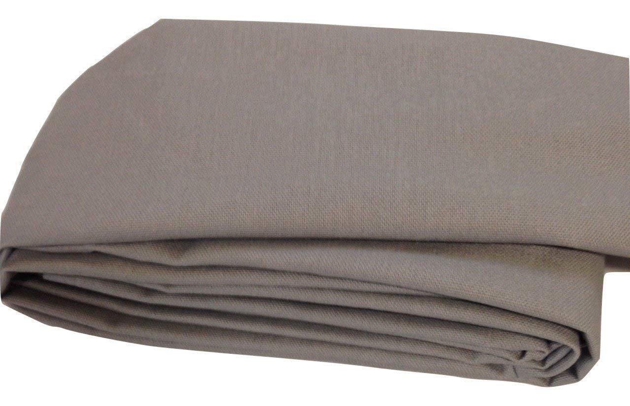 Gray Linen Fabric Cord Cover Handmade Variety of Sizes Up to 14 Feet