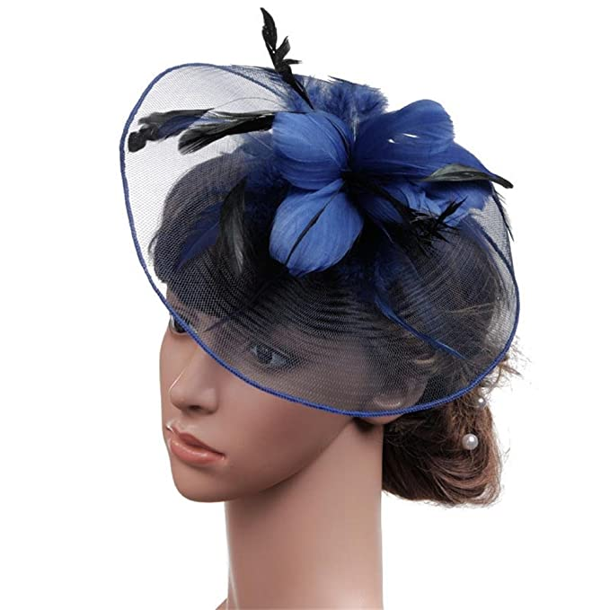 Womens Feather Fascinators Hat Pillbox Hat for 1920s The Great Gatsby Party  British themed Tea  2614df9e148