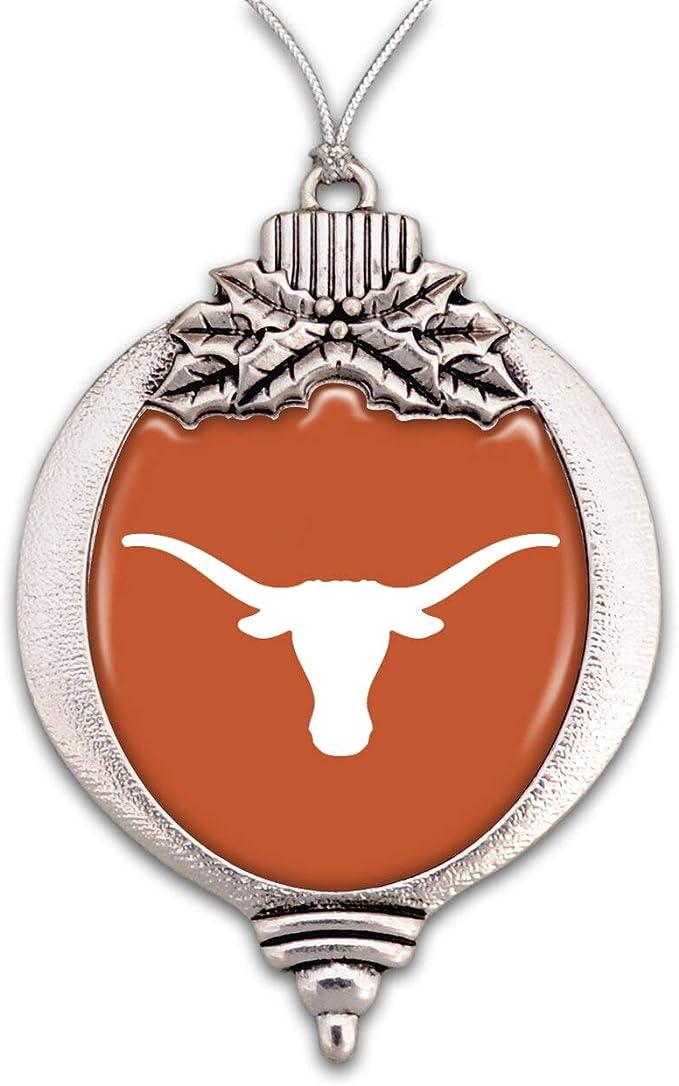 One Size Team Color FOCO NCAA Texas Longhorns College Team Logo Holiday Christmas Resin Chalkboard Ornament