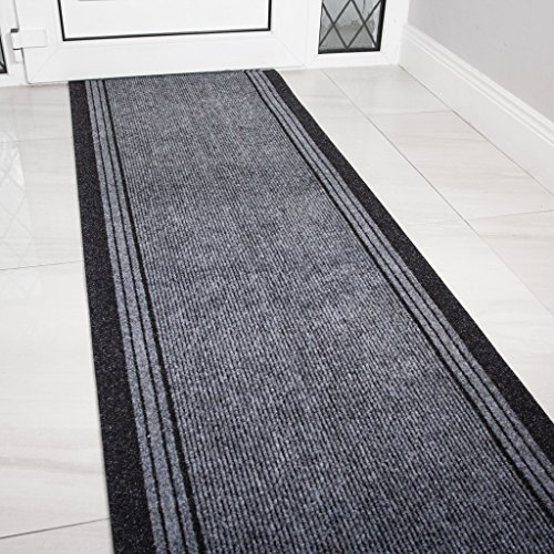 61XDk9rnSHL - Grey Rubber Backed Very Long Hallway Hall Runner Narrow Rugs Custom Length - Sold and Priced Per Foot
