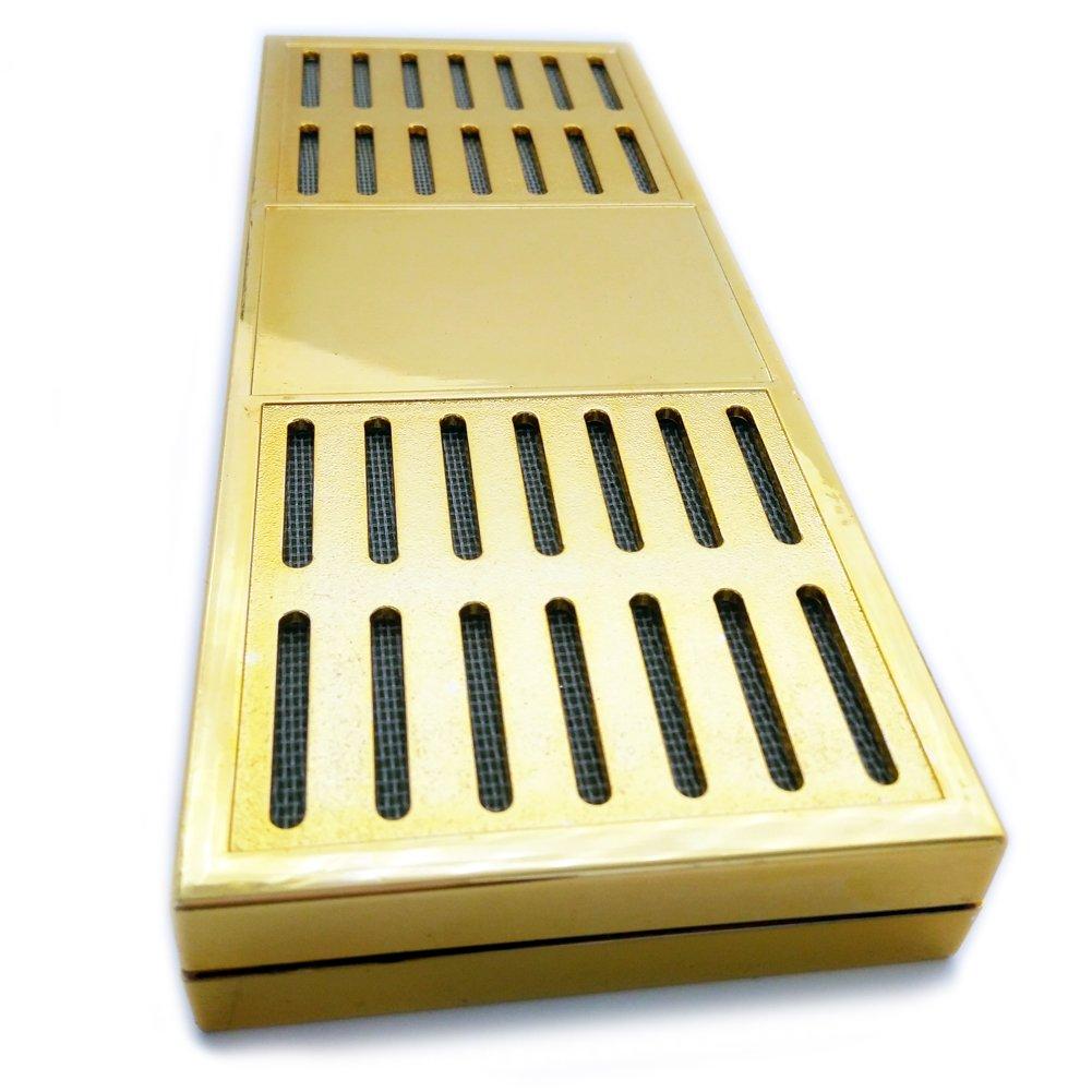 CyJay Humidifier for Cigar Humidor (Rectangle) (gold)