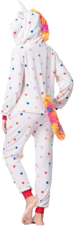 CADong Womens Animal Pajamas Onesie Unicorn Cosplay Costume Halloween Cosplay Sets