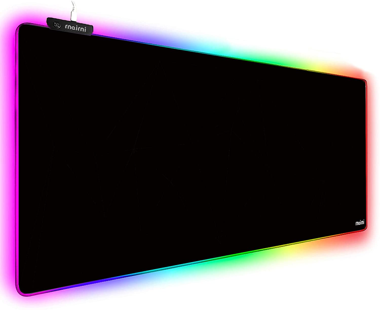 """Extended RGB Gaming Mouse Pad, Extra Large Gaming Mouse Mat for Gamer, Waterproof Office DEST Mat with 10 Lighting Mode, for PC Computer RGB Keyboard Mouse MacBook - 31.5'' x 11.8"""" x 4mm (Black)"""