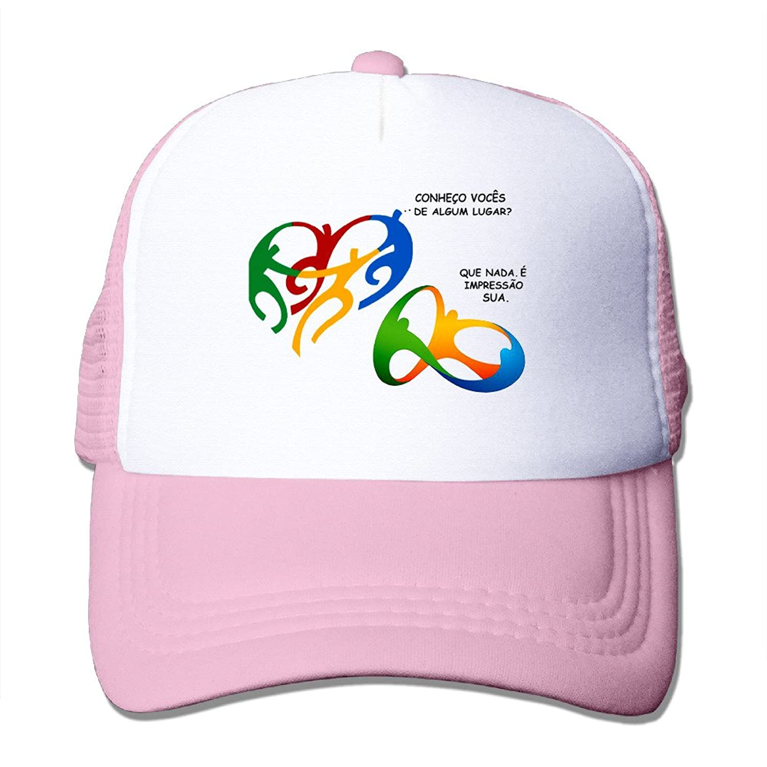 Funny 2016 Rio Adult Nylon Adjustable Mesh Hat Sun Hat Pink One Size Fits Most