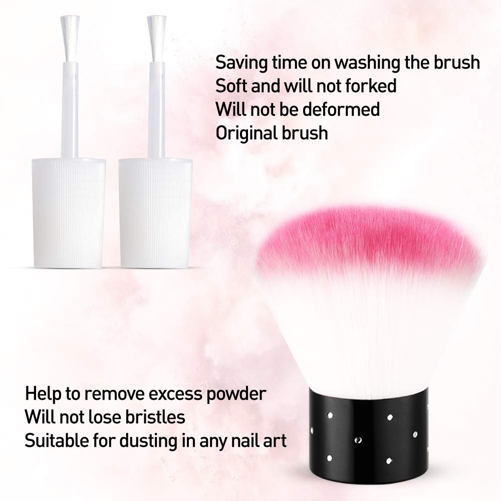 Dip Powder Kit for Starter with 6 Color,Dipping Nail Starter Kit Dip System Acrylic Dip Nail Kit for French Nail Style No Lamp Needed Quick Do Nail at Home Portable Kit for Travel.