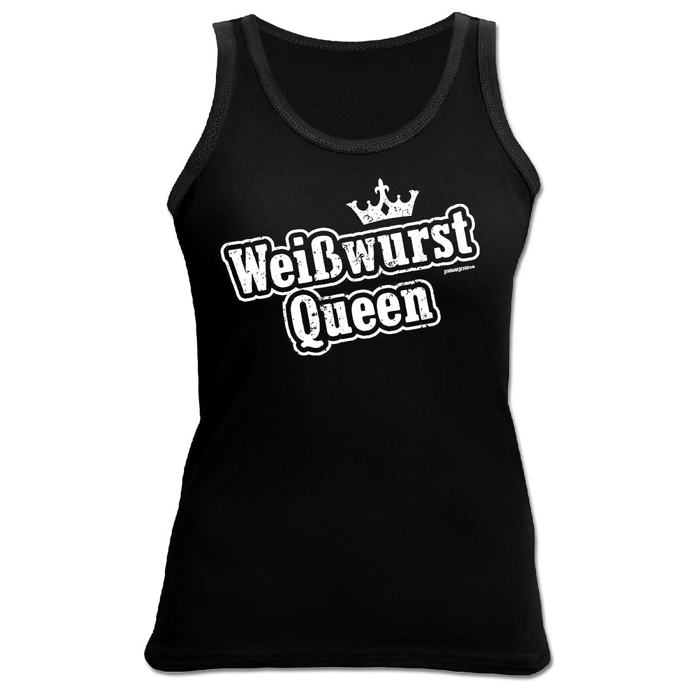 Tank Top Damen bayrische Sprüche - Mundart - Dialekt : Weißwurst Queen - Goodman Design Damen T-Shirt