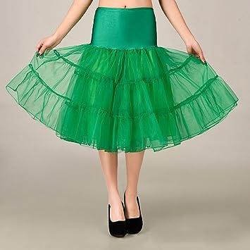 Falda de tul para boda de 10 colores verde verde S: Amazon.es: Belleza