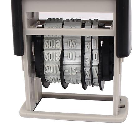 Amazon.com : eDealMax escuela de la oficina 2009-2020 Año de la goma de la rueda de numeración Sello de fecha : Office Products