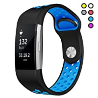 Hanlesi Strap for Fitbit Charge 2, Silica gel Soft Silicone Adjustable Fashion Replacement Sport Strap Accessory Band for Fitbit Charge 2 Smartwatch Fitness Wristband
