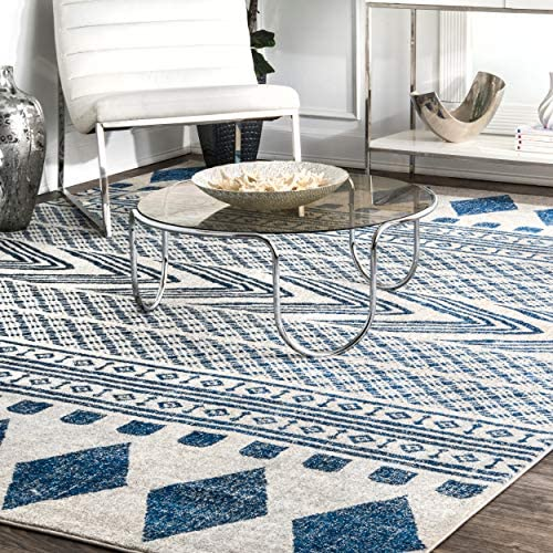 nuLOOM Shaina Tribal Area Rug, 8 x 10 , Blue