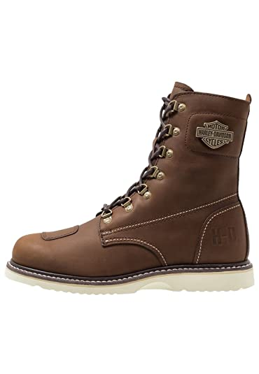 various colors cost charm 2018 shoes Harley Davidson Lottman Mens Brown Leather Biker Boots White ...