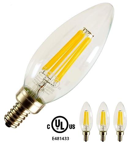 yuurta C35 5 W regulable LED filament bombilla E12 ...