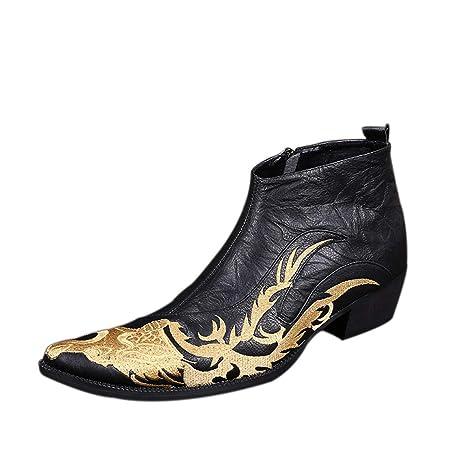 d643bac6c78b Amazon.com: DANDANJIE Men's Novelty Shoes Fall Winter Vintage Ankle ...